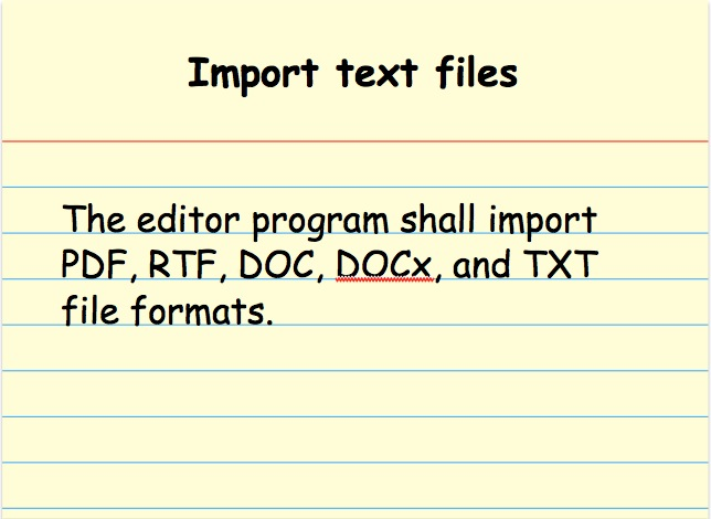 Import text files