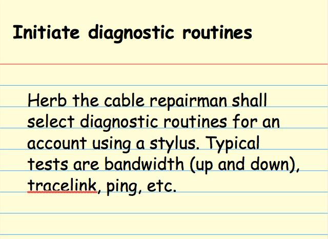 Initiate diagnostic routines