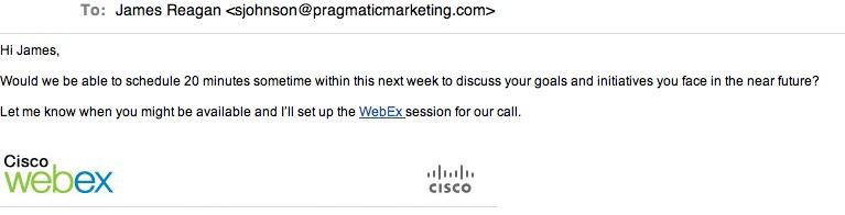 Webex sales promo